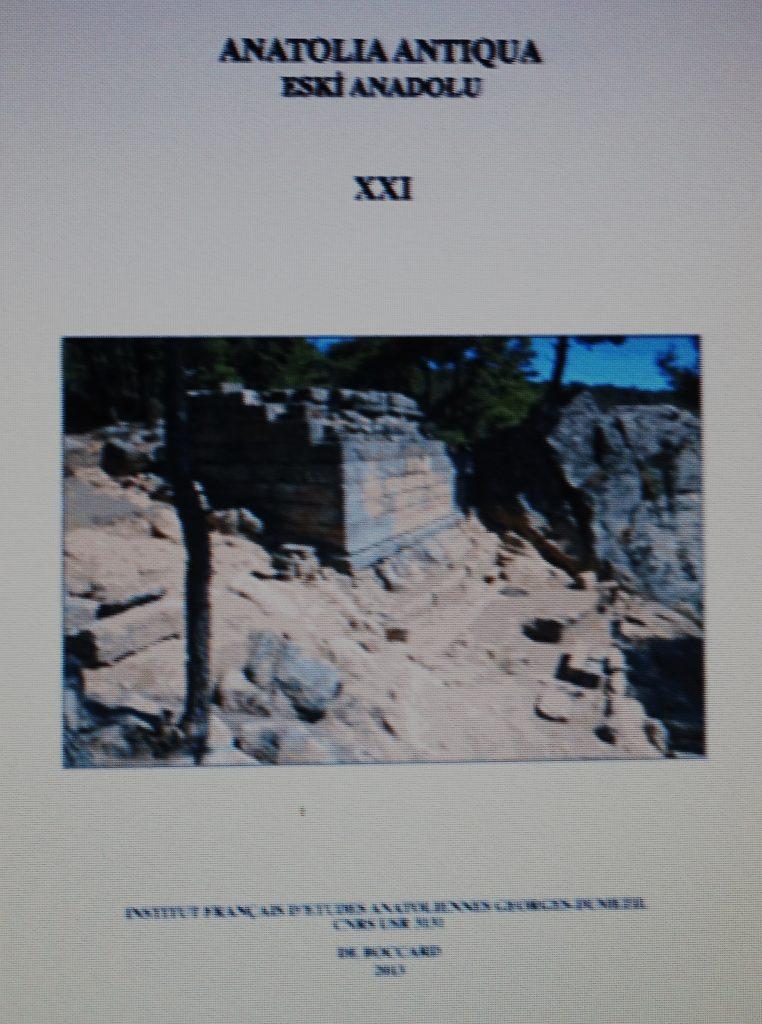 Article Anatolia Antiqua XXI