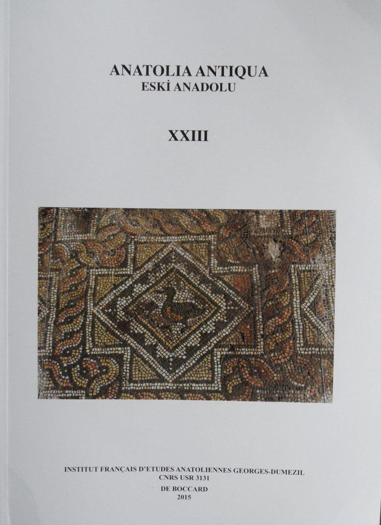 Article Anatolia Antiqua XXIII