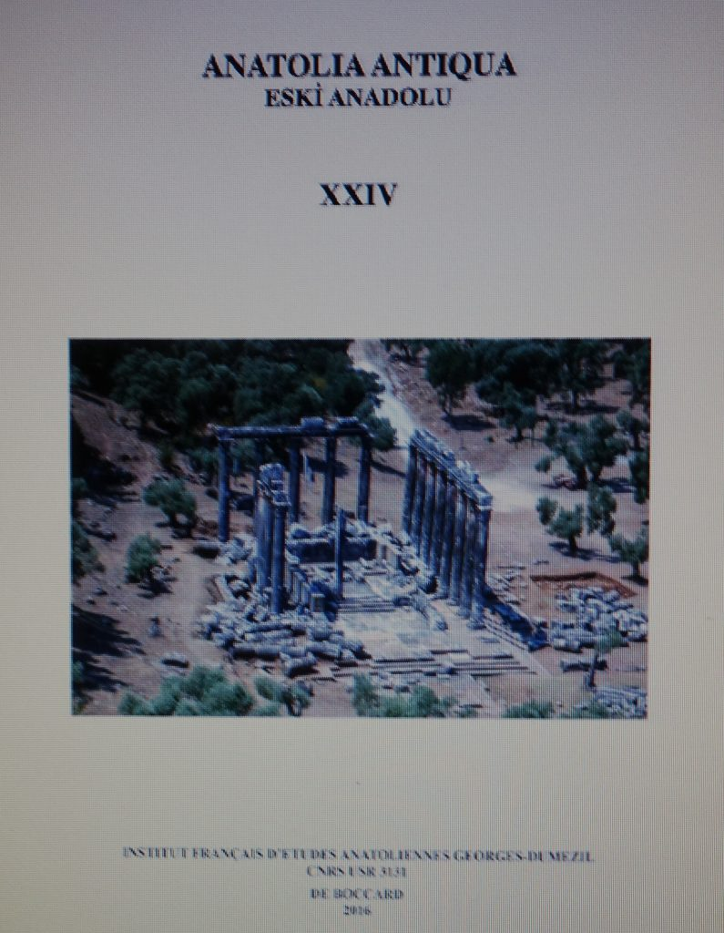 Article Anatolia Antiqua XXIV
