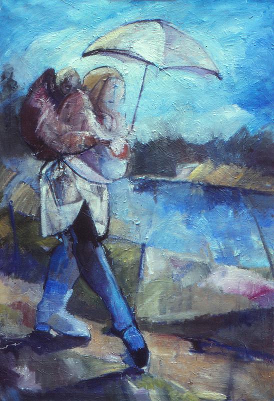 Promenad 120x135, Agneta Freccero 1980
