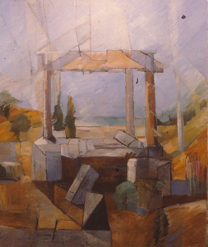 Paestum 135x150, Agneta Freccero 1985