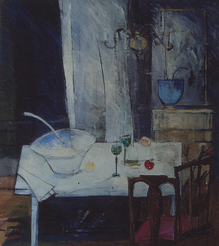 Stilleben 135x150, Agneta Freccero 1992
