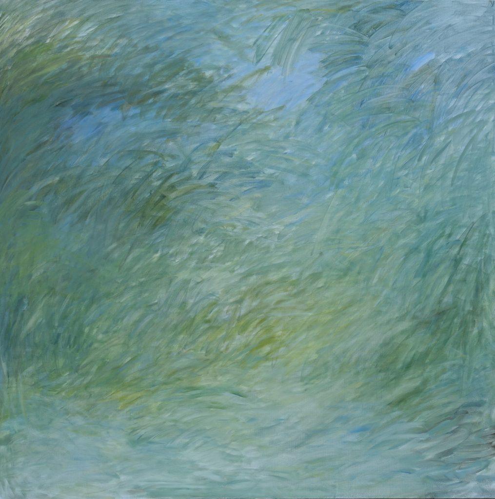 Verde romano, 145x145, Agneta Freccero 2017.