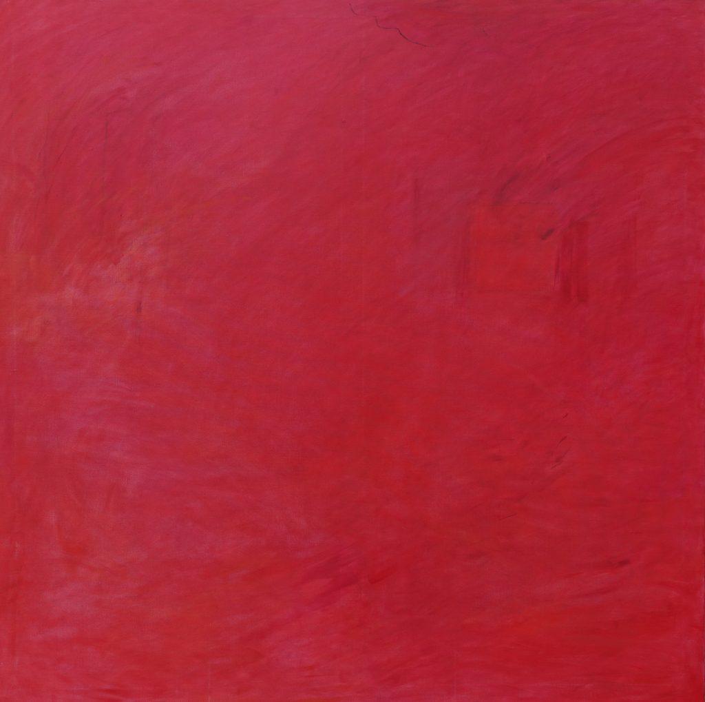 Rosso pompeiano, 145x145, Agneta Freccero 2017.