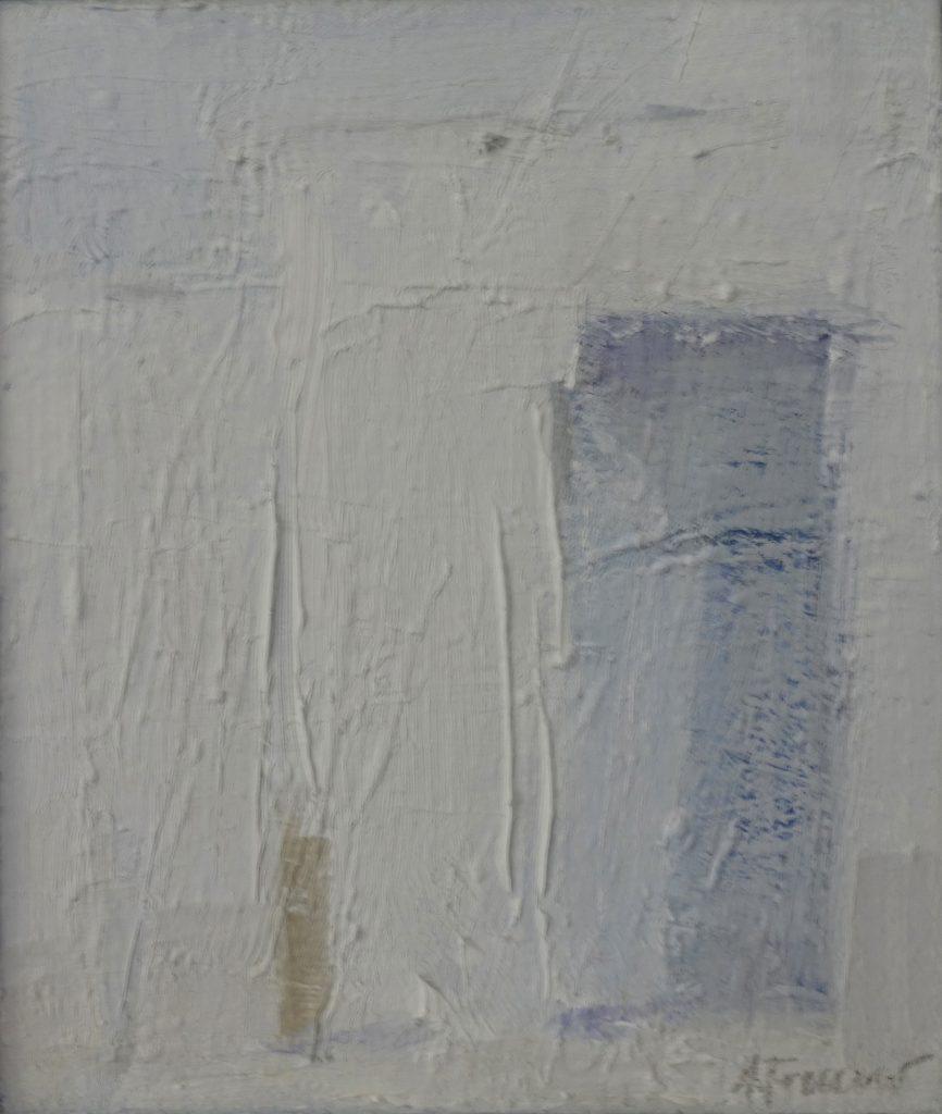 White wall, 16x19, Agneta Freccero 2018.